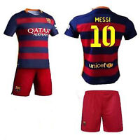 Kids set Barcelona jerseys and shorts Messi 10 For 6-13 years