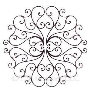 wrought iron wall decor - Wrought Iron Wall Designs