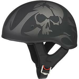 NEW Half Motorcycle Helmet - DOT Certified - Black