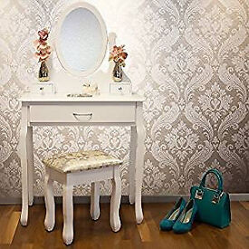 BRAND NEW JASMINE DRESSING TABLE WITH ADJUSTABLE MIRROR AND STOOL