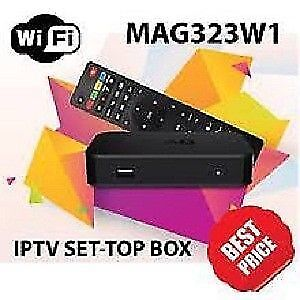 MAG322 W1 +IPTV Premium 5000+LIVE Channels SUB AS LOW $6 MONTHLY