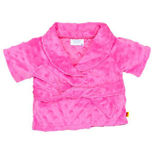 Build A Bear Fuchsia Chenille Robe