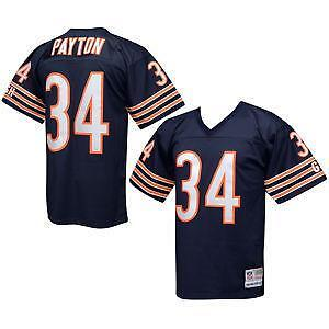 NFL Jersey's Men's Chicago Bears Walter Payton Mitchell & Ness White Retired Player Replica Jersey