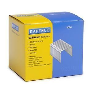 Rapesco 923/8mm (23 Type) Galvanised Staples PK4000