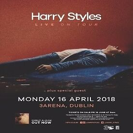 HARRY STYLES - 3ARENA DUBLIN - 4 SEATED TICKETS - LESS THAN FACE VALUE - BUY SINGLE TICKET, OR 2 / 4
