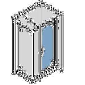 Novellini Prestige semi frameless shower enclosure 1700 x 700mm NEW