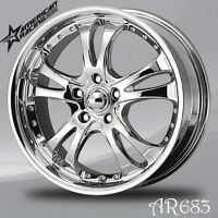 4x MAGS 18 POUCES CHROME American Racing