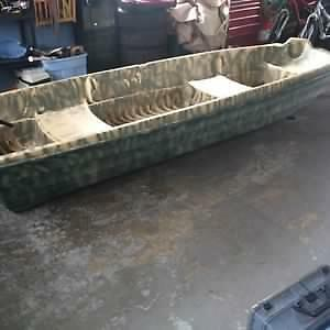 11.5 foot flat bottom boat with 5 hp motor