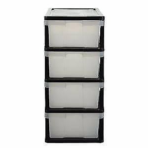 4 Drawer Storage Cabinet Clear