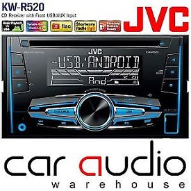 Jvc double din cd player