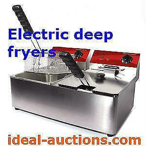 Two Basket Electric Deep Fryer - Brand New