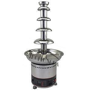 110V 5-tiers Chocolate Fountain Fondue Stainless Steel Digital Display Buttons 153166