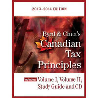 Canadian Tax principles - Byrd & Chen 2013-2014