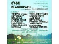 OnBlackHeath festival tickets X2 Saturday 9th September