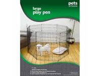 Large Dog Play Pen - Used for Puppy a handful of times