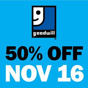 50% OFF EVERYTHING at Goodwill on November 16 London Ontario image 1