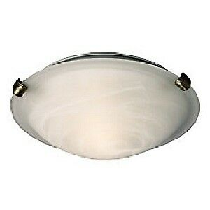 """Ceiling Light w/ 3 Pewter Clips & Marbled Glass 12"""""""