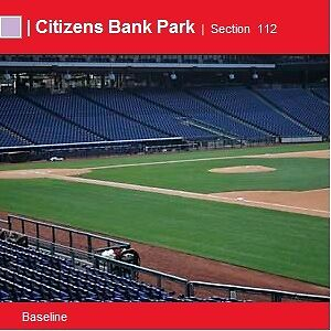 Philadelphia Phillies vs Atlanta Braves - Sat 9/7 - 2 Great Lower Aisle Seats !