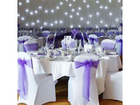 Wedding chair covers, sashes and napkins for hire