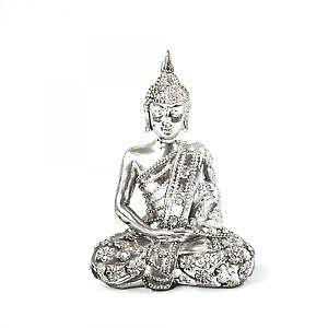 buddha figur silber ebay. Black Bedroom Furniture Sets. Home Design Ideas