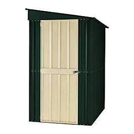 Heritage green garden shed metal