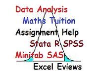 Maths Statistics Stats Tutor Data Analysis SPSS R studio Accounting Stata assignment coursework exam