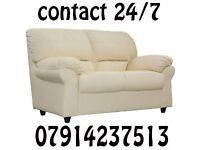 3 & 2 or Corner Leather Sofa Range Cash On Delivery 01