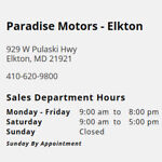 Paradise Motors of Elkton