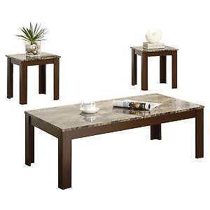 Elegant Marble Top End Tables