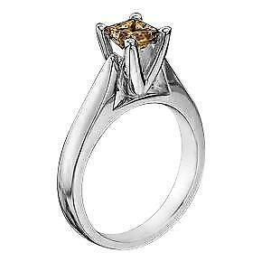 Chocolate Diamond Solitaire Rings