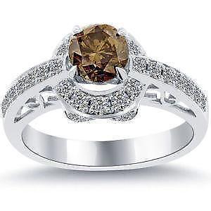 Chocolate Diamond Engagement Rings Photo Gallery
