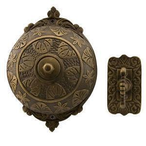 Beau Antique Brass Door Bell