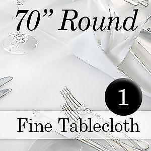 70 Round Tablecloth White