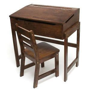 Charmant Antique Childs School Desk