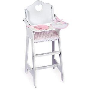 wooden doll high chairs