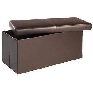 Brown Ottoman Storage Boxes