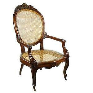 Attirant Bergere Cane Chairs
