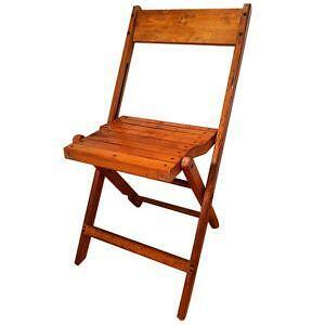 Attrayant Vintage Wood Folding Chairs