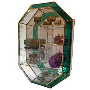 Brass Glass Curio Cabinets