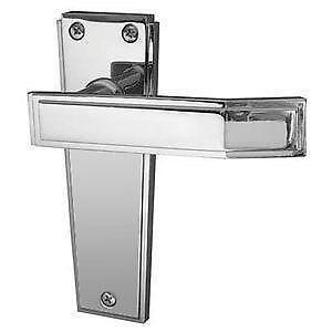 Art Deco Chrome Door Handles
