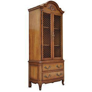 Merveilleux Antique Walnut China Cabinets