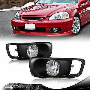 Honda Civic Clear Fog Lights 99 00