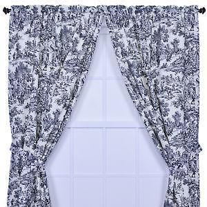 Black Toile Curtains