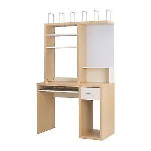 Superb Ikea Mikael Desk Add On Discontinued Shelves Whiteboard Idea