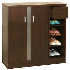 Beau Walnut Shoe Cabinets