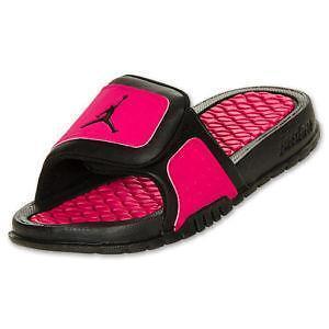 5c33d8b9380852 Black And Hot Pink Jordan Sandals cheap girls jordans