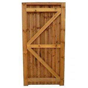 Solid Wooden Garden Gates