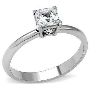 Cubic Zirconia Princess Engagement Rings