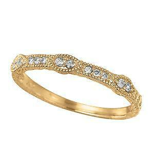 Etonnant Antique Yellow Gold Wedding Band