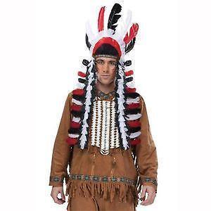 Indian Headdress Costume  sc 1 st  eBay & Indian Headdress: Costumes Reenactment Theater | eBay